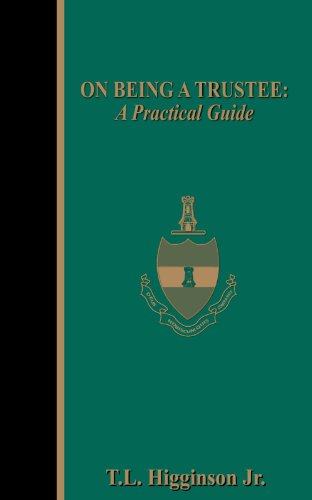 9781844012305: On Being a Trustee: A Practical Guide