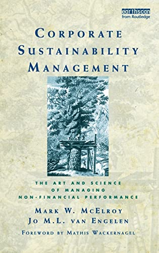 9781844079117: Corporate Sustainability Management: The Art and Science of Managing Non-Financial Performance