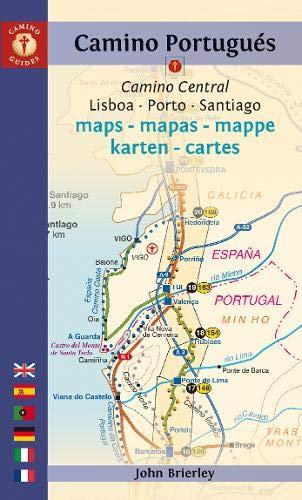 9781844096503: Mapa-Guía Camino portugués (Lisboa a Santiago) Español, inglés, alemán, francés, portugués, italiano. Camino Guides.