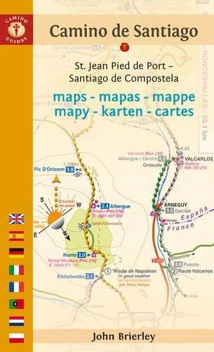 9781844096831: Camino de Santiago Maps - Mapas - Mappe - Mapy - Karten - Cartes: St. Jean Pied de Port – Santiago de Compostela (Camino Guides)