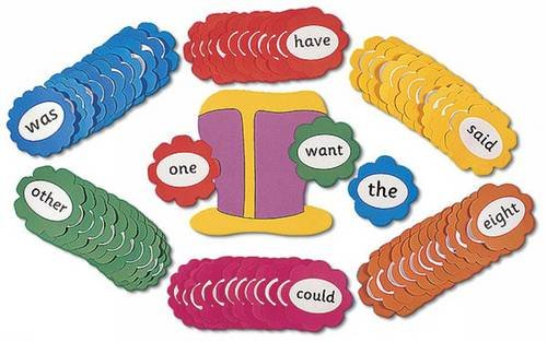 9781844140466: Jolly Phonics Tricky Words Wall Flowers (in Print Letters)