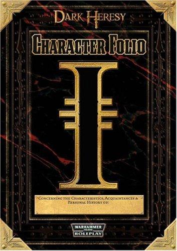 9781844164363: Warhammer 40,000 Roleplay: Dark Heresy character record