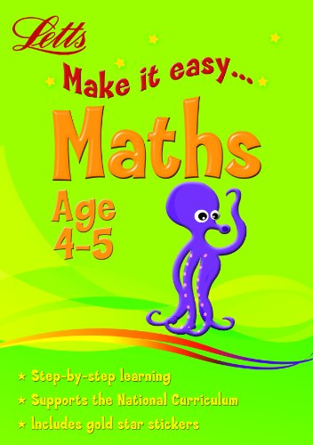 9781844195114: Maths Age 4-5 (Letts Make it Easy)