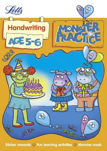 9781844197477: Handwriting Age 5-6 (Letts Monster Practice)