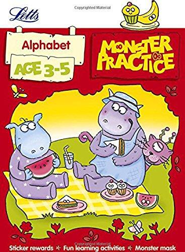 9781844197682: Alphabet Age 3-5 (Letts Monster Practice)