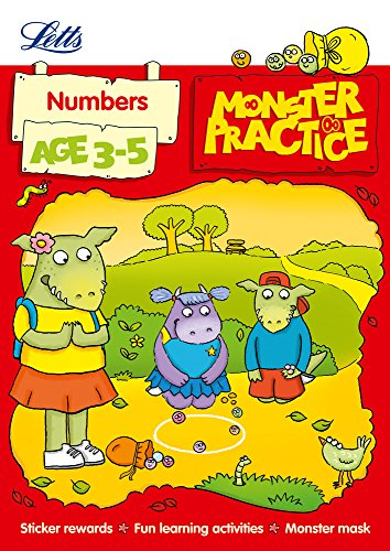 9781844197705: Numbers Age 3-5 (Letts Monster Practice)