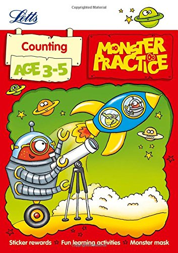 Counting Age 3-5 (Letts Monster Practice): Hempstock, Becky; Medcalf, Carol