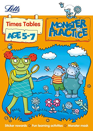 9781844197729: Times Tables Age 5-7 (Letts Monster Practice)