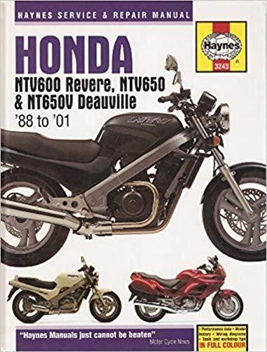 9781844250684: Honda NTV600 Revere, NTV650 and NT650V Deauville Service and Repair Manual: 1988 to 2001 (Haynes Service and Repair Manuals)