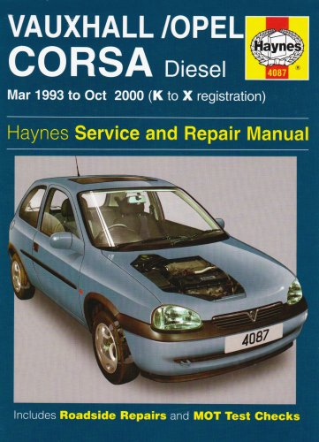 9781844250875: Vauxhall/Opel Corsa Diesel (Mar 93 - Oct 00) Haynes Repair Manual
