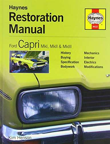 9781844251124: Ford Capri Restoration Manual (Restoration Manuals)