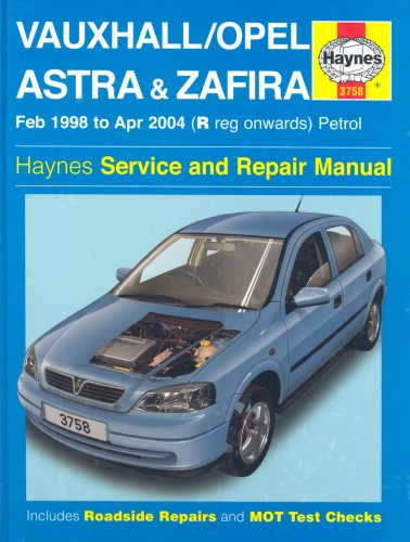 9781844251650: Vauxhall Opel Astra and Zafira Petrol: 98-04 (Haynes Service and Repair Manuals)