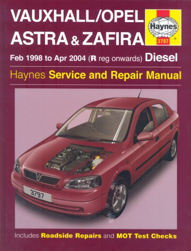 Vauxhall/Opel Astra and Zafira Diesel Service and: Legg, A.K.; Randall,