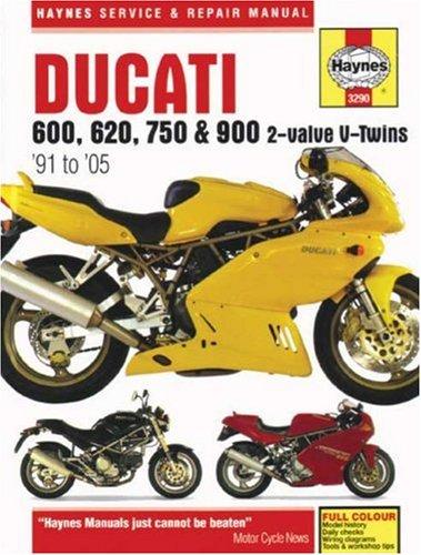 9781844252770: Ducati 600, 620, 750 & 900 2-valve Service and Repair Manual: 1991 to 2005 (Haynes Service and Repair Manuals)