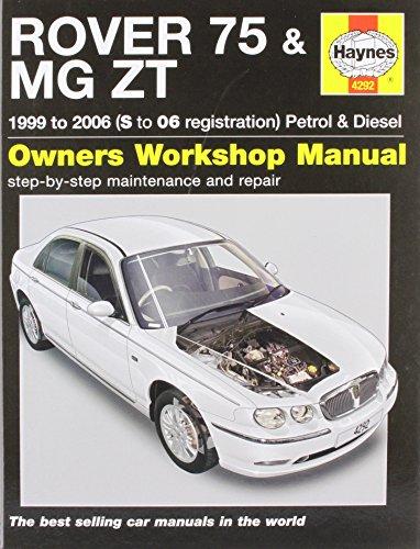 9781844252923: Rover 75 and MG ZT Petrol and Diesel Service and Repair Manual: 1999 to 2006 (Haynes Service & Repair Manuals)