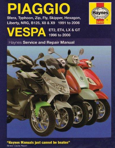 Haynes Piaggio and Vespa Scooter Manual 3492: Matthew Coombs
