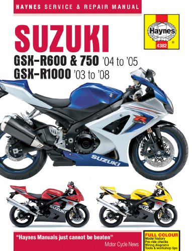 9781844253821: Suzuki GSX-R600 (04 On) GSX750 (04 On) and GSX-R1000 (03 On) Service and Repair Manual (Haynes Service and Repair Manuals)