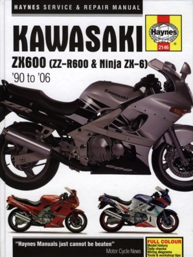 9781844253883: Kawasaki ZX600 (ZZ-R600 & Ninja ZX-6) Service and Repair Manual: 1990-2006: 1990 to 2006 (Haynes Service and Repair Manuals)