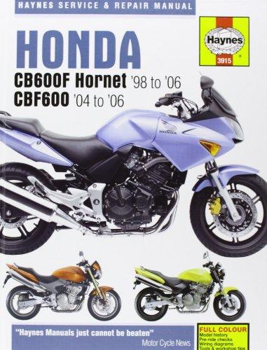 9781844255948: Honda CB600F/FS Hornet and CBF600 Service and Repair Manual: 1998 to 2006 (Haynes Service and Repair Manuals)