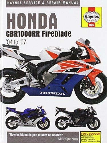 9781844256044: honda cbr1000rr service and repair manual: 2004 to.