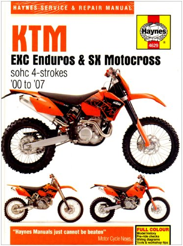9781844256297: KTM EXC Enduros and SX Motocross Service and Repair Manual: 2000 to 2007 (Haynes Service and Repair Manuals)
