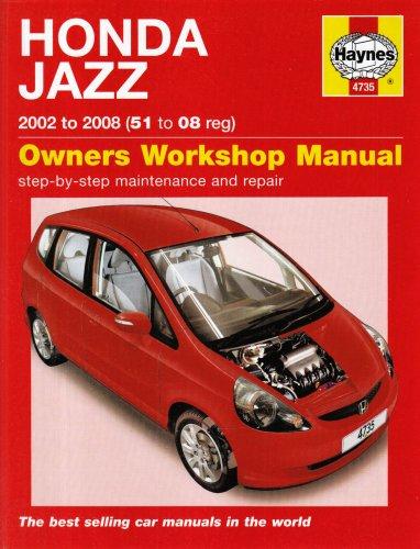 9781844257355: Honda Jazz 2002 to 2008 (51 to 08 reg): Owners Workshop Manual