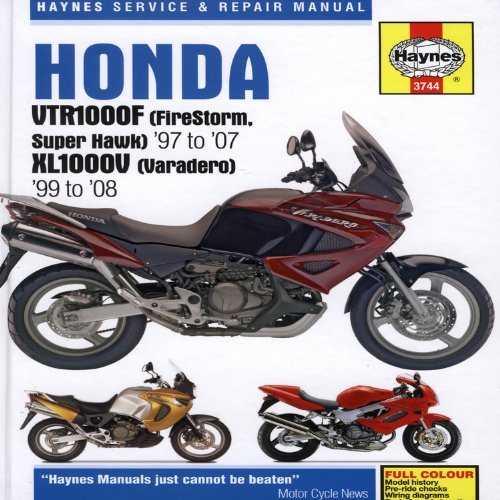 9781844257713: Haynes Honda VTR1000F Firestorm (Super Hawk) & XL1000V Varadero: Service and Repair Manual: 1997 to 2008 (Haynes Service and Repair Manuals)