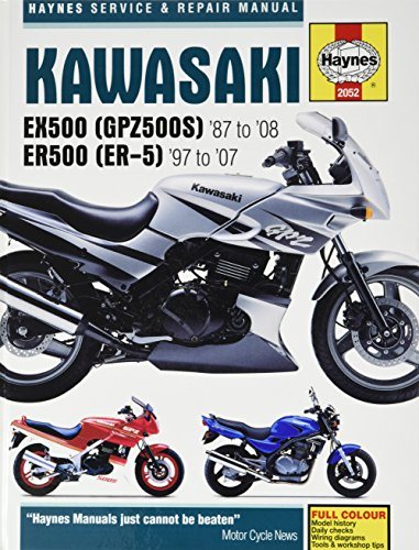 9781844257775: Kawasaki EX500 (GPZ500S) & ER500 (ER-5) Service/Repair Manual: EX500 1987-2008, ER500 1997-2007 (Haynes Service & Repair Manual)