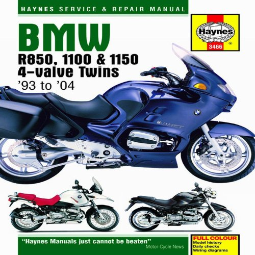 9781844257799: BMW R850, 1100 & 1150 4-Valve Twins '93 to '06 (Haynes Service & Repair Manuals)