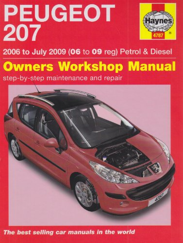 9781844257874: Peugeot 207 Petrol and Diesel Service and Repair Manual: 2006 to 2009 (Service & repair manuals)