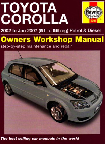 9781844257911: Toyota Corolla Service and Repair Manual: 2002 to 2007 (Haynes Service and Repair Manuals)