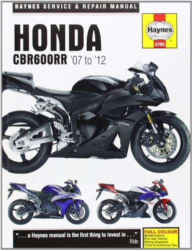 9781844257959: Honda CBR600RR Service and Repair Manual: 2007-2012 (Haynes Service and Repair Manuals)