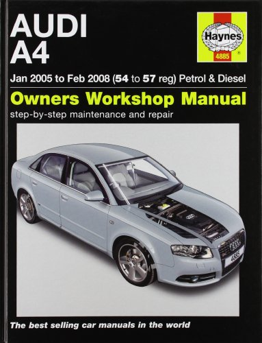 9781844258857: Audi A4 Petrol and Diesel Service and Repair Manual: 2005 to 2008 (Haynes Service and Repair Manuals)