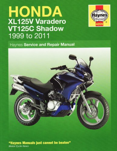 9781844258994: Honda XL125V & VT125C Shadow: 2000-2010 (Haynes Motorcycle Manuals)