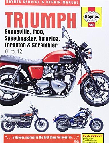 9781844259175: Triumph Bonneville, T100, Speedmaster, America, Thruxton and Scrambler for '01 to '12