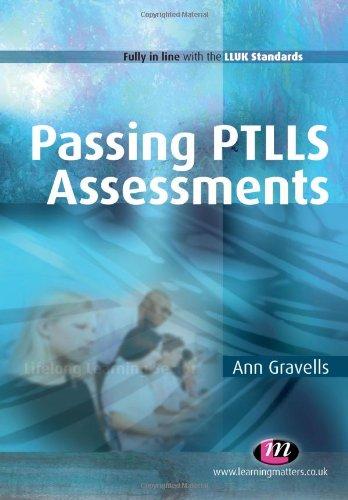 9781844453788: Passing PTLLS Assessments (Further Education and Skills)