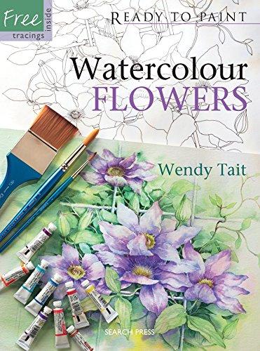 Watercolour Flowers (Paperback)
