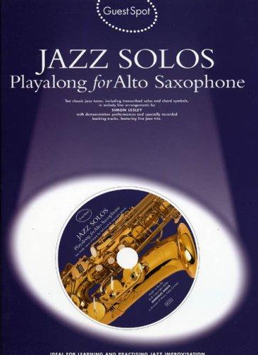 9781844494491: Guest Spot for Alto Saxophone: Jazz Solos (Guest Spot)