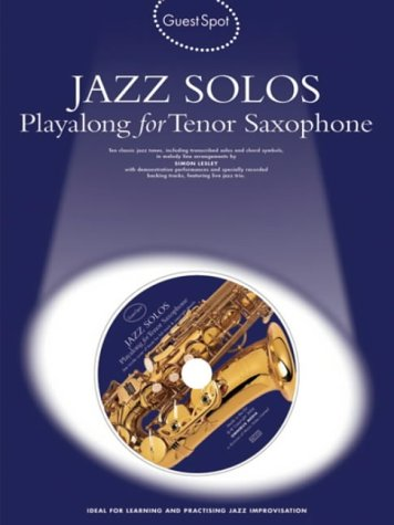 9781844494507: Guest Spot Jazz Solos Tenor Sax + Cd