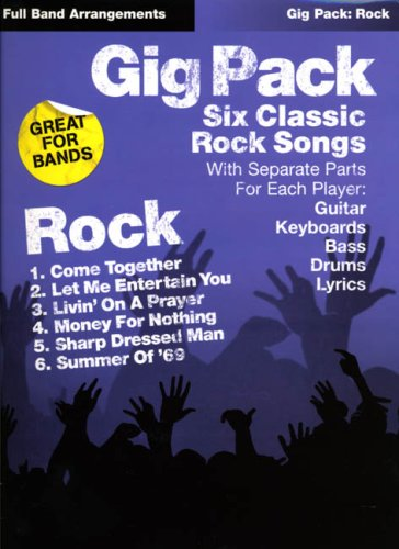 9781844494866: Gig pack rock: six classic rock songs with seperate parts for each player