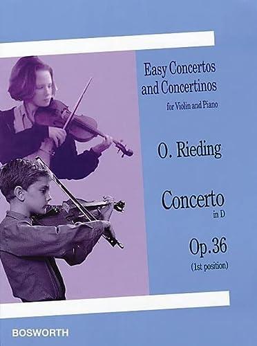 9781844496778: EASY CONCERTOS & CONCERTINOS FOR VIOLIN & PIANO CONCERTO IN D OP 36. 1ST POSITION
