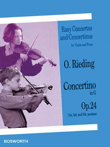 9781844497287: Concertino in G, Op. 24 (1st, 3rd and 5th Position): Easy Concertos and Concertinos for Violin and Piano