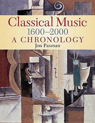 Classical Music 1600-2000: A Chronology: Jon Paxman