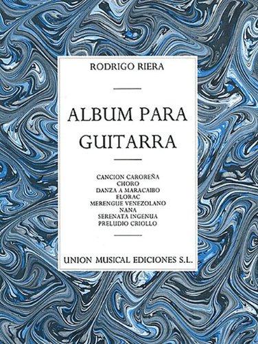 Rodrigo Riera: Album Para Guitarra (Paperback)