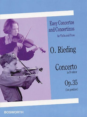 9781844499274: Oskar Rieding: Concerto In B Minor Op.35 (Easy Concertos and Concertinos for Violin and Piano)