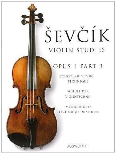 9781844499861: Sevcik Violin Studies: School of Violin Technique / Schule der Violintechnik Op.1 Part 3