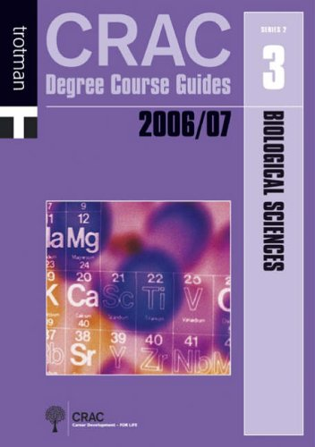 9781844550593: Biological Sciences (CRAC Degree Course Guides: Series 2)