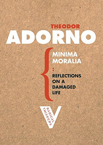 9781844670512: Minima Moralia: Reflections on a Damaged Life (Radical Thinkers)