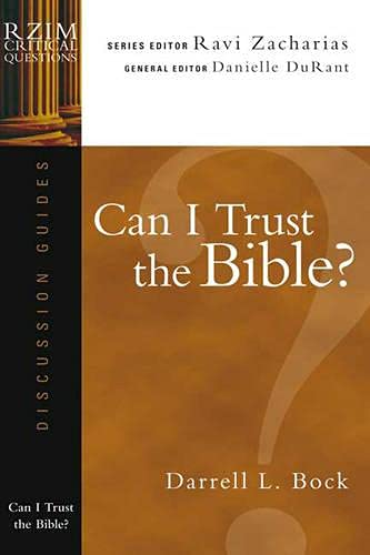 9781844742219: Can I Trust the Bible? (RZIM Critical Questions Discussion Guides)