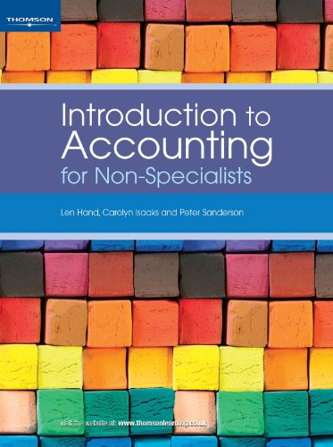 9781844800223: Introduction to Accounting for Non-Specialists